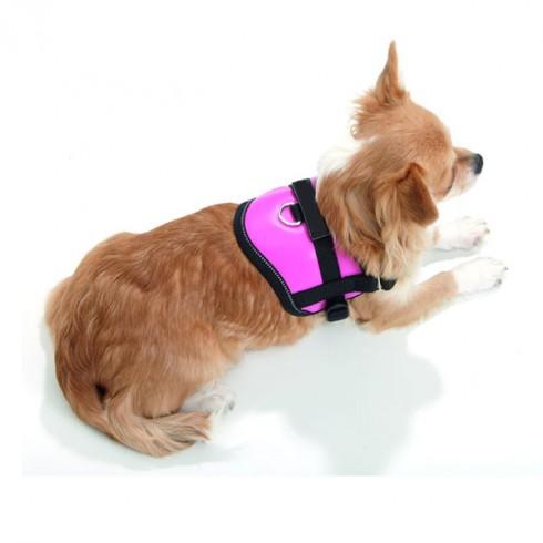 Harnais rose foncé pour petit chien