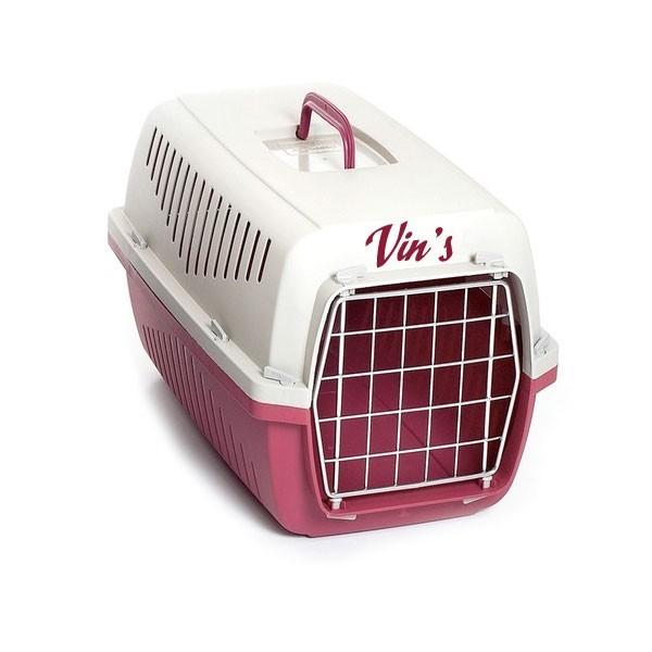 caisse de transport personnalis e pour chien et chat. Black Bedroom Furniture Sets. Home Design Ideas