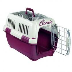 Caisse de transport chien chat personnalisé prénom