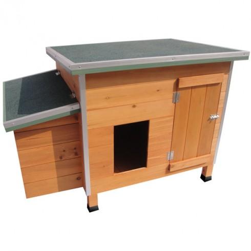 poulailler ginger en bois clair pour 2 a 4 poules pondeuses. Black Bedroom Furniture Sets. Home Design Ideas
