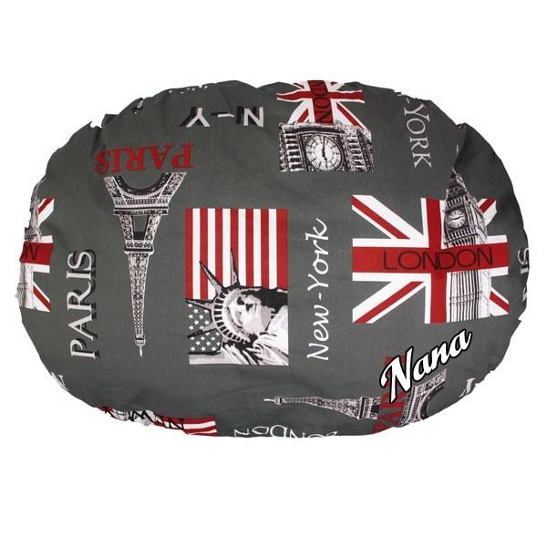 coussin pour chien paris london personnalis au prenom du chien. Black Bedroom Furniture Sets. Home Design Ideas