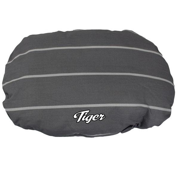 coussin pour chien gris avec le prenom de votre chien. Black Bedroom Furniture Sets. Home Design Ideas
