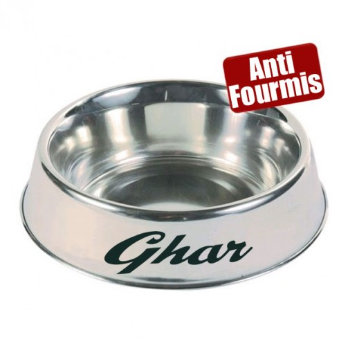 Gamelle inox anti fourmis personnalis pr nom chien for Anti fourmis maison