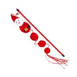 Canne à pêche père Noël pour chat