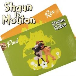 Set de table pour chien Shaun le mouton personnalisé prénom