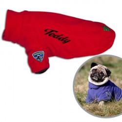Manteau personnalisé pour chien Touchdog Outdoor Rouge