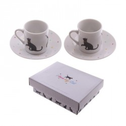 Set de tasse expresso chat