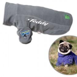Manteau personnalisé pour chien Touchdog Outdoor Gris