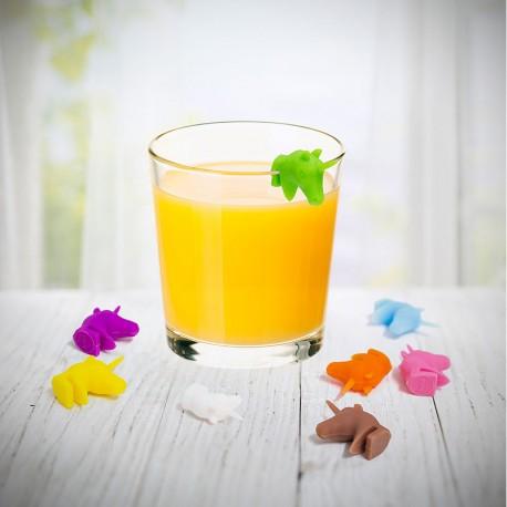 Marque verre silicone Licorne x8