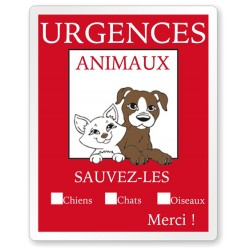 Stickers urgences animaux