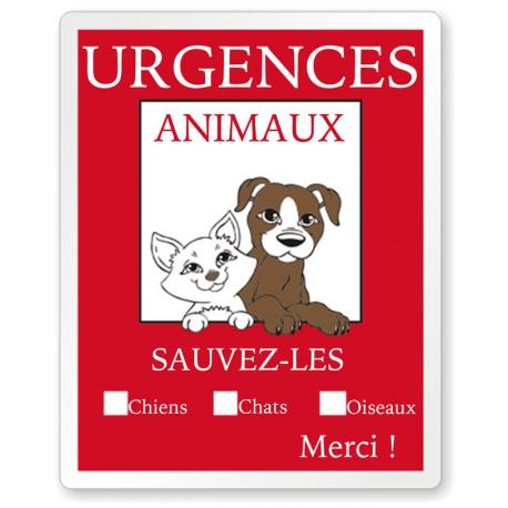 Stickers urgences animaux