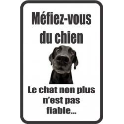 Stickers méfiez-vous du chien