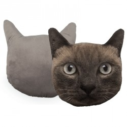 Coussin en forme de tête de chat