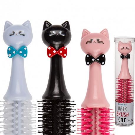 Brosse à cheveux en forme de chat