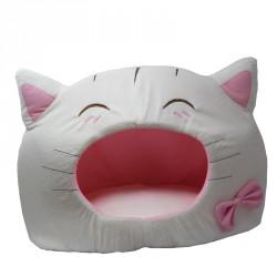 Maison pour chat tête de chat