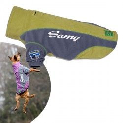Manteau Vert pour chien Touchdog Outdoor Fleece
