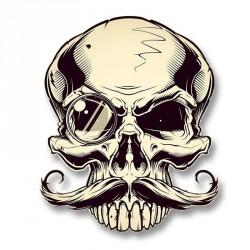 Stickers tête de mort Monocle