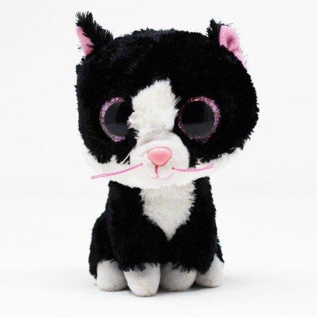 Peluche chat grands yeux