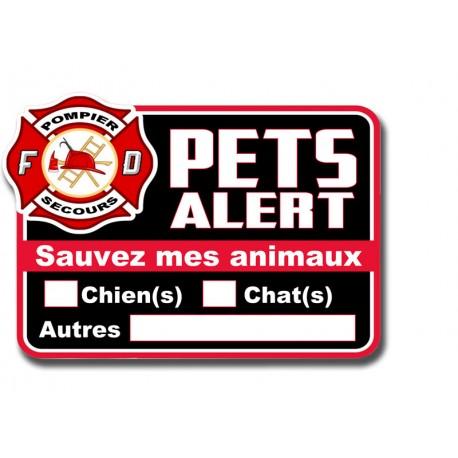 Plaque Pet Alert adhésive