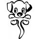 Stickers interrupteur chien