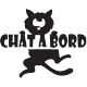 Stickers chat à bord