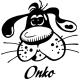 Stickers chien marrant personnalisé prénom