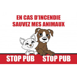 Stickers Stop Pub PET ALERT