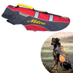 Manteau Rouge pour chien personnalisé Touchdog Outdoor Grip