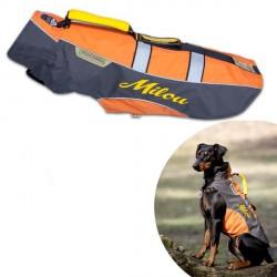 Manteau Orange pour chien personnalisé Touchdog Outdoor grip