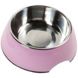 Gamelle pour chien Royal Rondo rose personnalisée