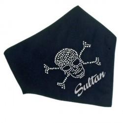 Foulard noir avec logo pirate
