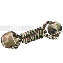 Jouet double balles militaire pour chien