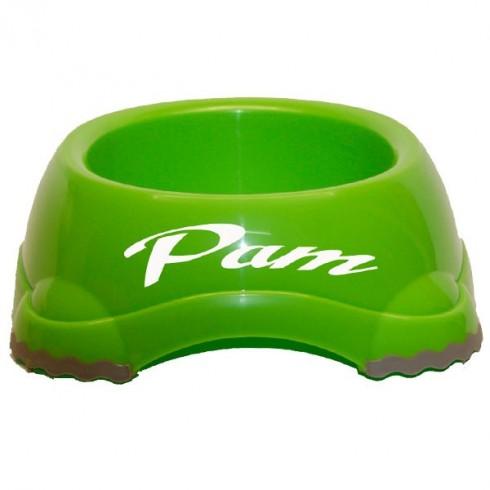 Ecuelle en plastique verte
