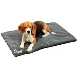 couverture Fleecy grise pour chien