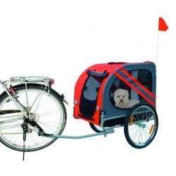 Remorque à vélo pour chien personnalisé rouge