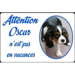 Plaque de rue personnalisée chien pas en vacances