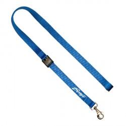 Laisse d'education chien personnalisée bleue