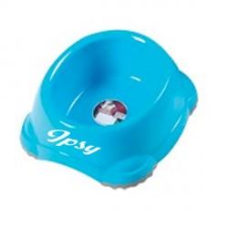 Ecuelle en plastique poue chien Bleue personnalisée