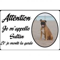 Plaque de rue personnalisée chien