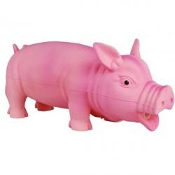 Cochon rose en latex pour chien