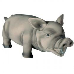 Cochon gris en latex pour chien