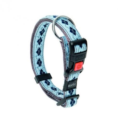 Collier pour chien Rhombe bleu