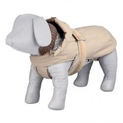 Manteau beige pour chien avec capuche