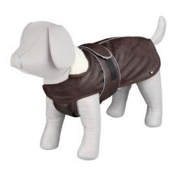 Manteau pour chien marron avec col en fourrure