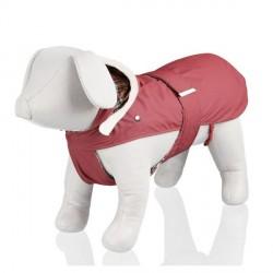 Manteau pour chien rouge et blanc