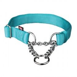 Collier semi étrangleur pour chien Turquoise