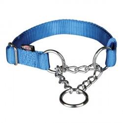 Collier semi étrangleur pour chien Bleu