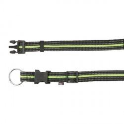 Collier pour chien réfléchissant vert et noir
