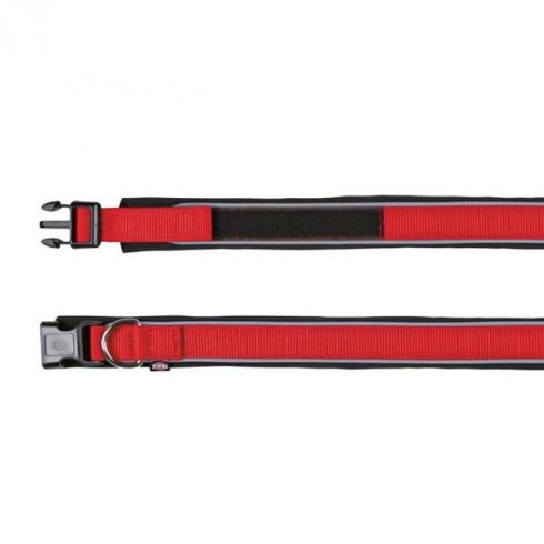 Collier rouge pour chien avec doublure néoprène