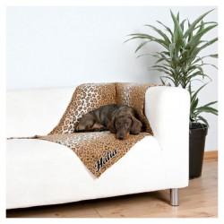 Couverture polaire léopard pour chien personnalisée